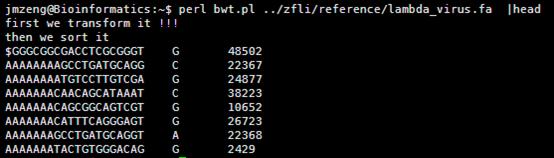 BWT算法详解之一建立索引1289