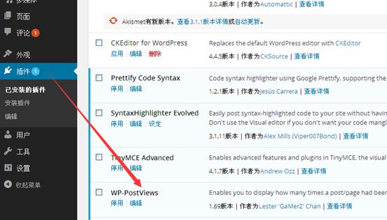 Wordpress博客统计文章阅读次数及访客数并刷访问数599
