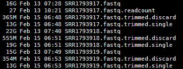 solexaQA 对测序数据进行简单过滤2497