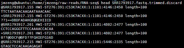 solexaQA 对测序数据进行简单过滤2678