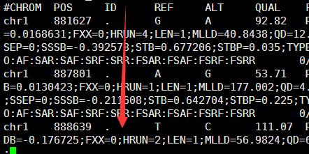 Vcf文件的突变ID号注释134
