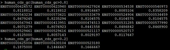 实战R语言bioconductor的seqinr包探究人的所有转录本的性质2075