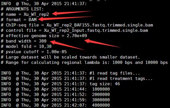CHIP-seq第三讲之使用MACS软件寻找peaks974