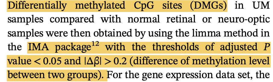 甲基化差异分析之IMA包