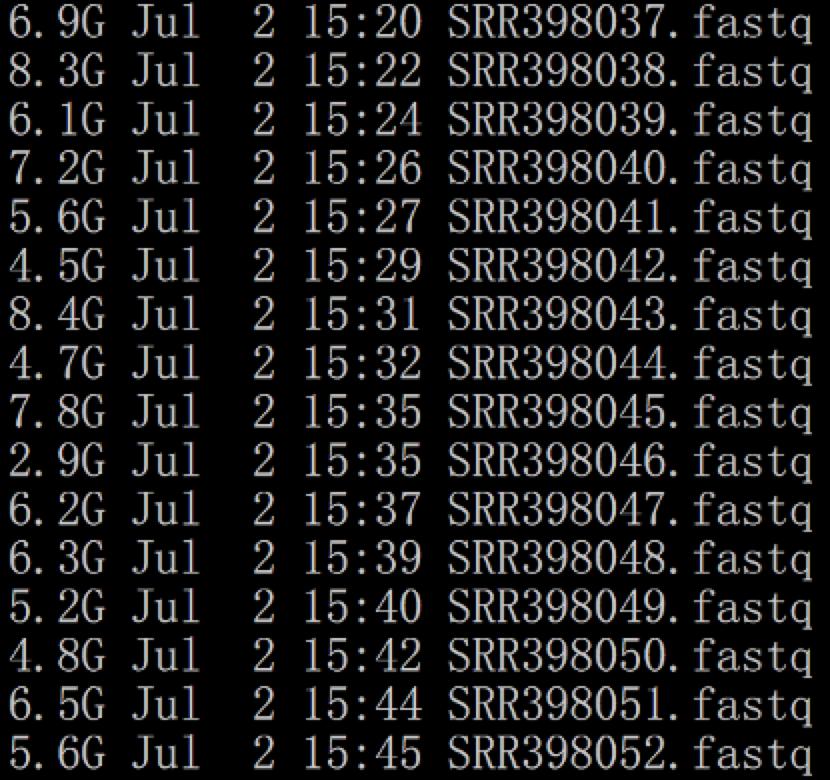 得到fastq测序数据