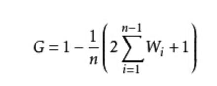 GINI系数简化公式
